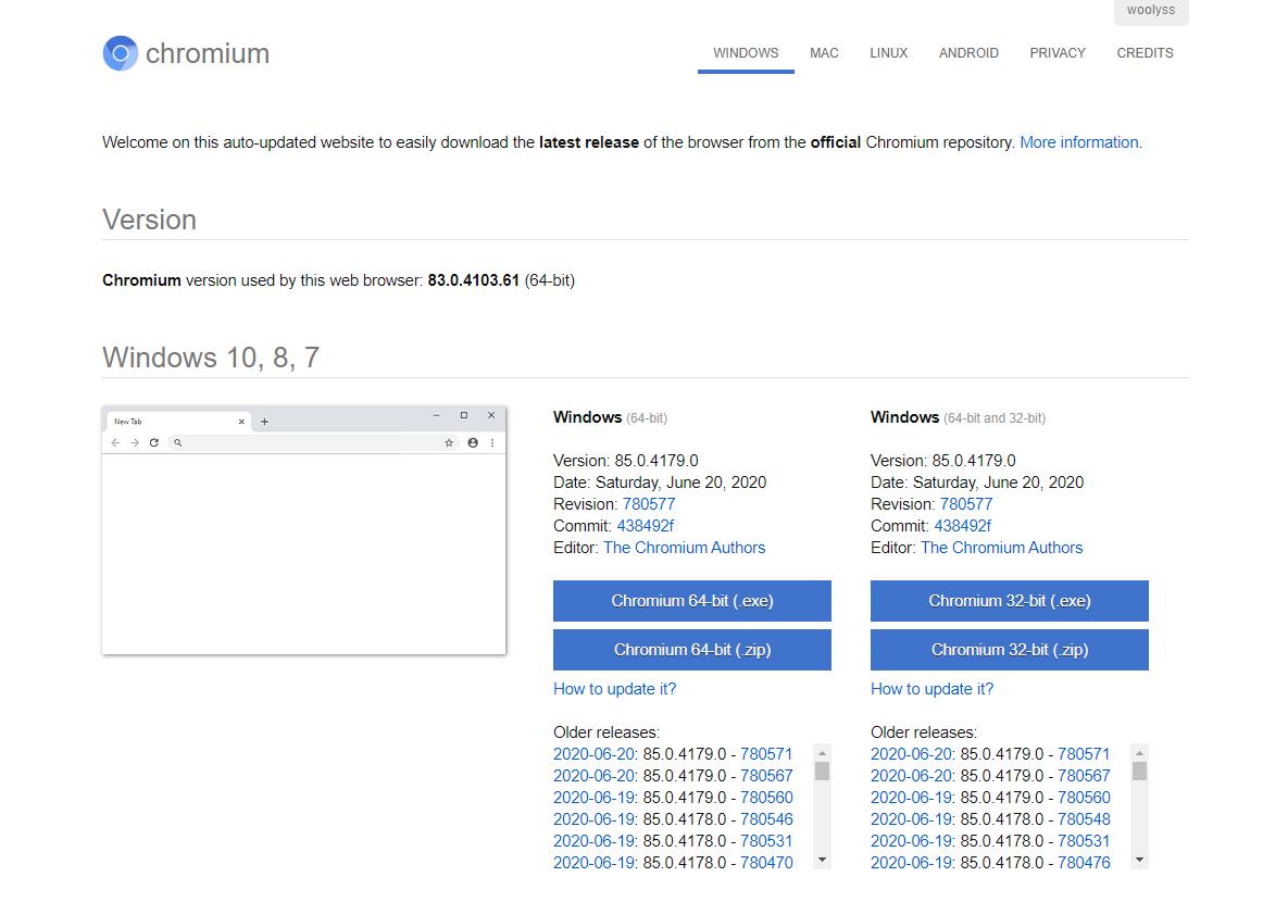 Chromium Offical Website