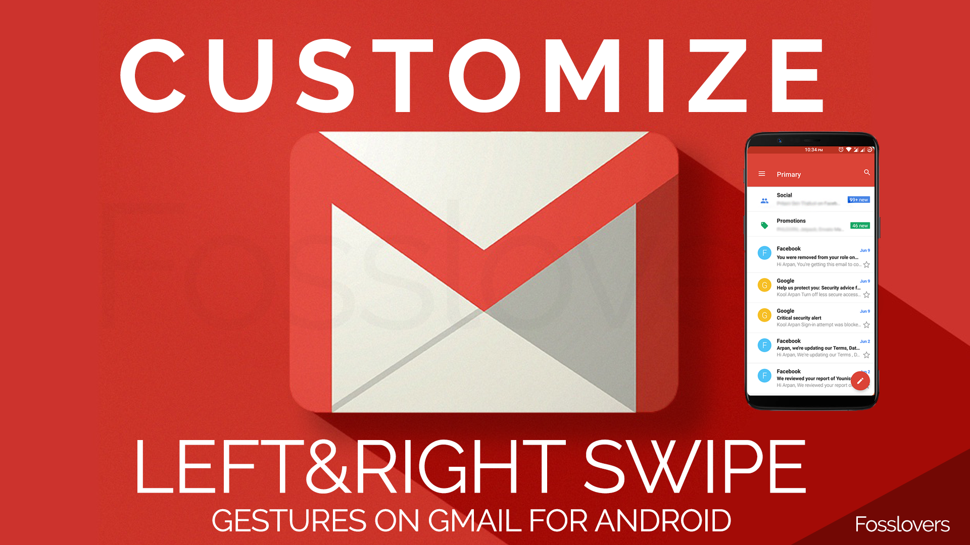 How to Customize Left and Right Swipe Gestures on Gmail for Android