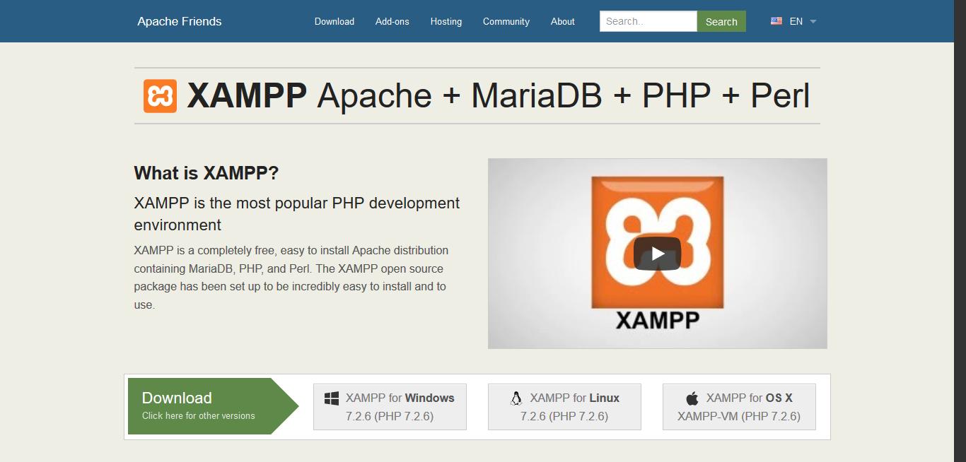 Apache Friends XAMPP Official Website