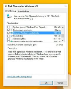 How to delete the Windows.old folder from Windows 10 1
