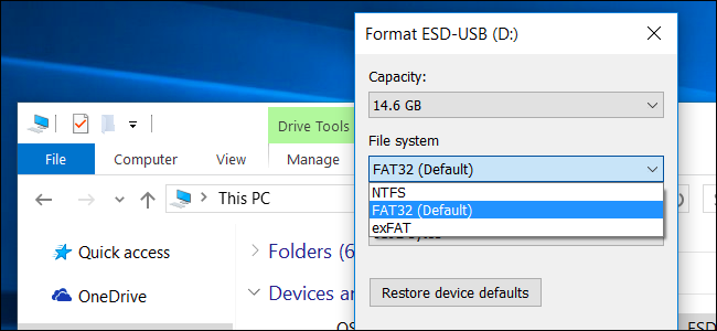 fat32 vs ntfs vs exfat difference file systems