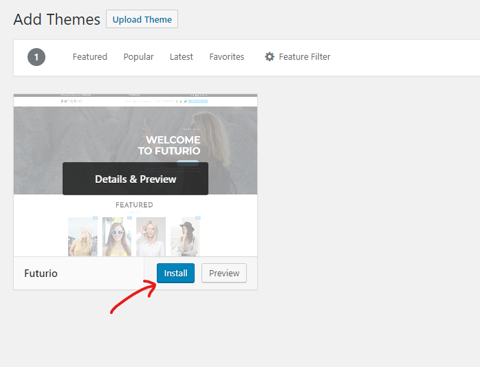 How to Install a WordPress Theme 04