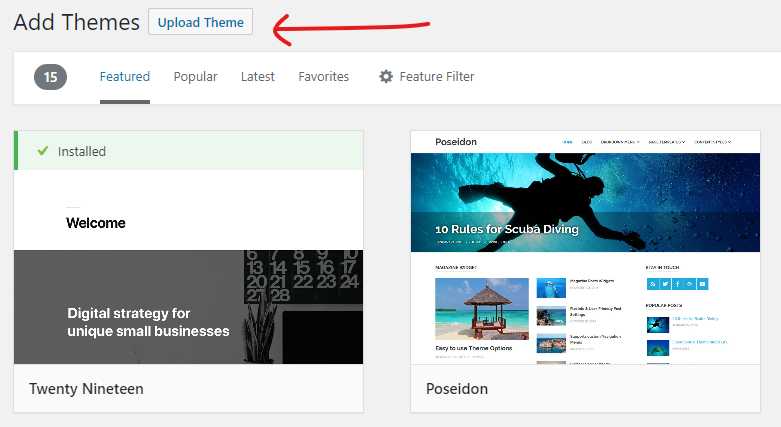 How to Install a WordPress Theme 08