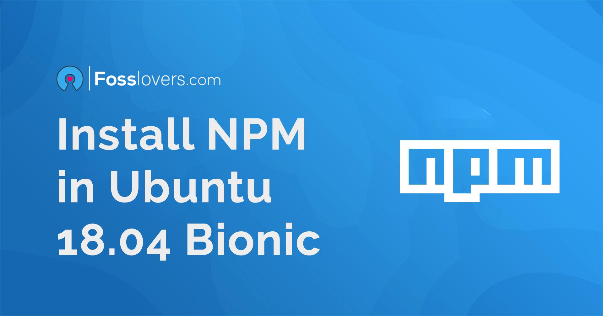 How to Install NPM in Ubuntu 18.04 Bionic