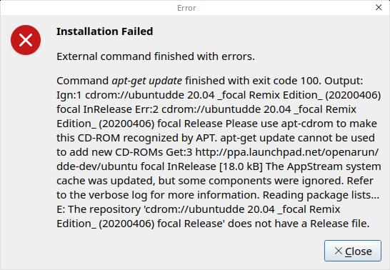 UbuntuDDE Beta EFI Error