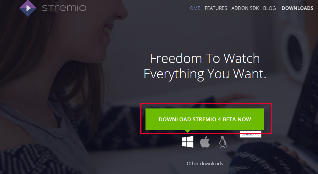 Download Stremio Windows from Website