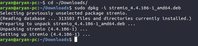 Installing Stremio Linux