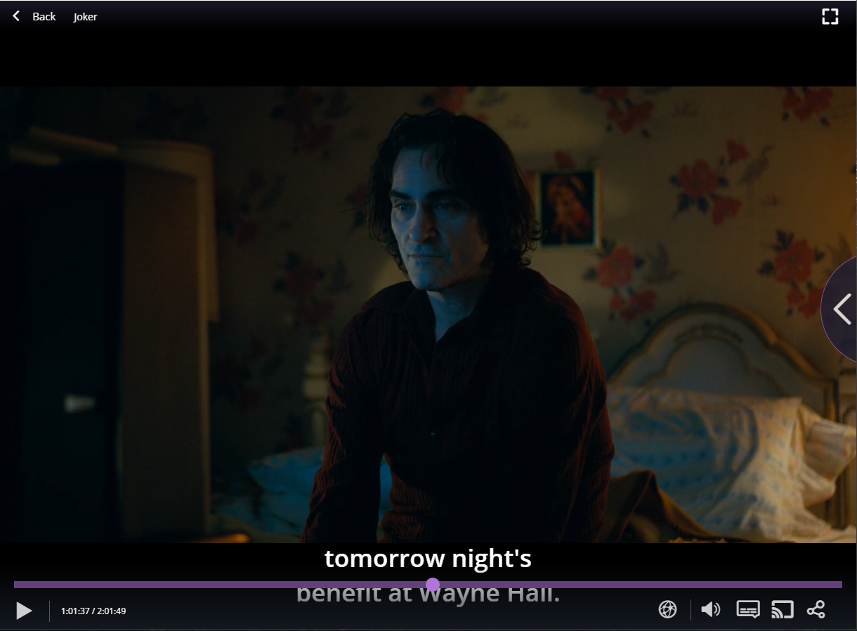 Playing JOKER Movie in Stremio for Windows. Joaquin Phoenix as Joker.