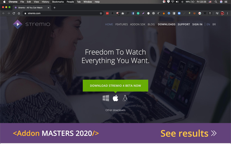 Stremio Website macOS